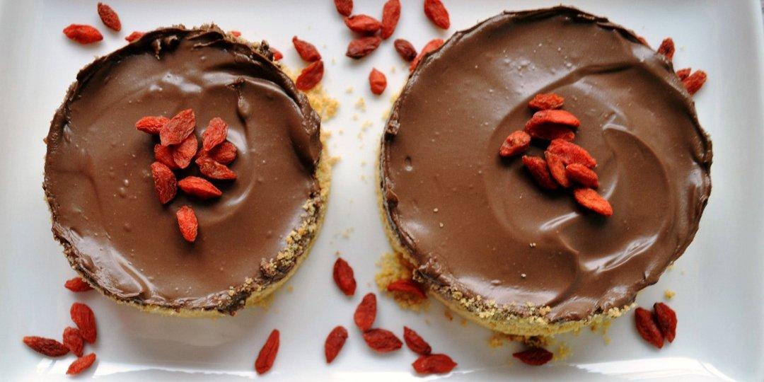 Σοκολατένια vegan ταρτάκια  - Images