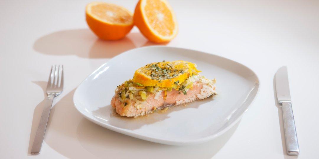 Σολομός με πορτοκάλι - Images