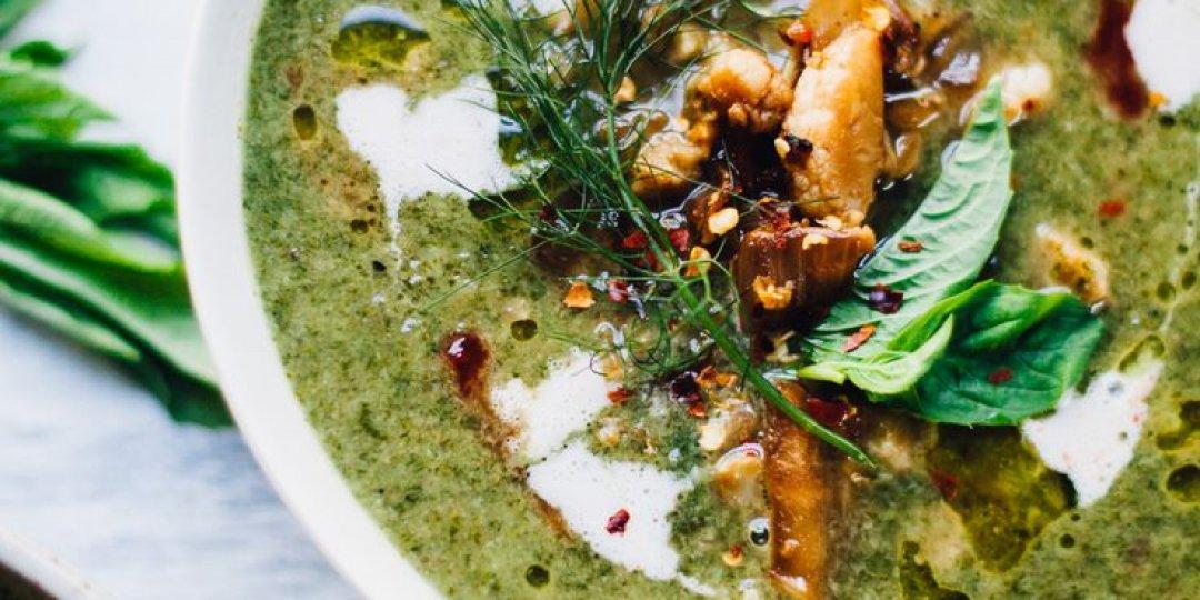 Σούπα βελουτέ με κέιλ και ταμπουλέ κινόας - Images