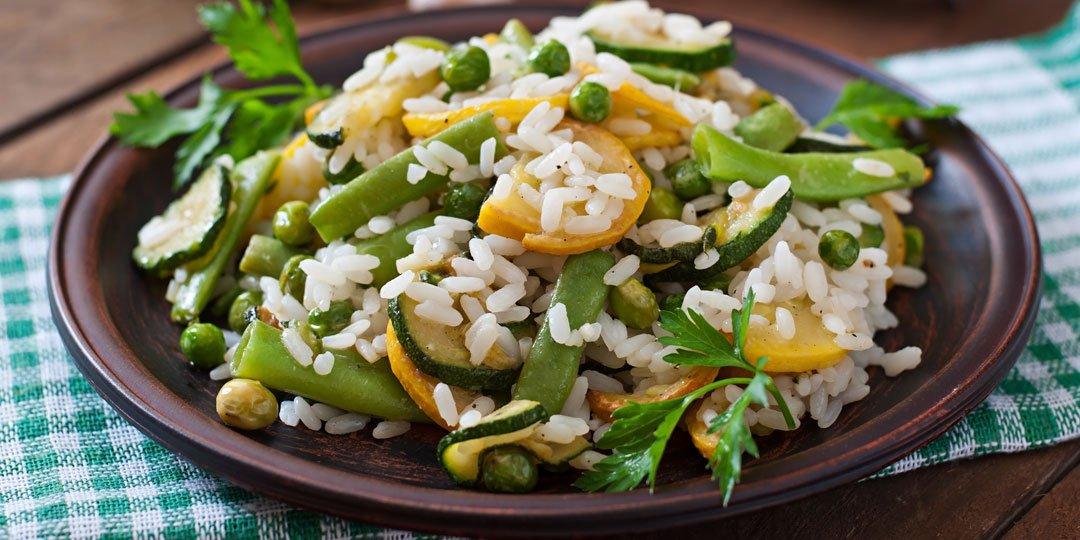 Ριζότο με σπαράγγια και αρακά - Images