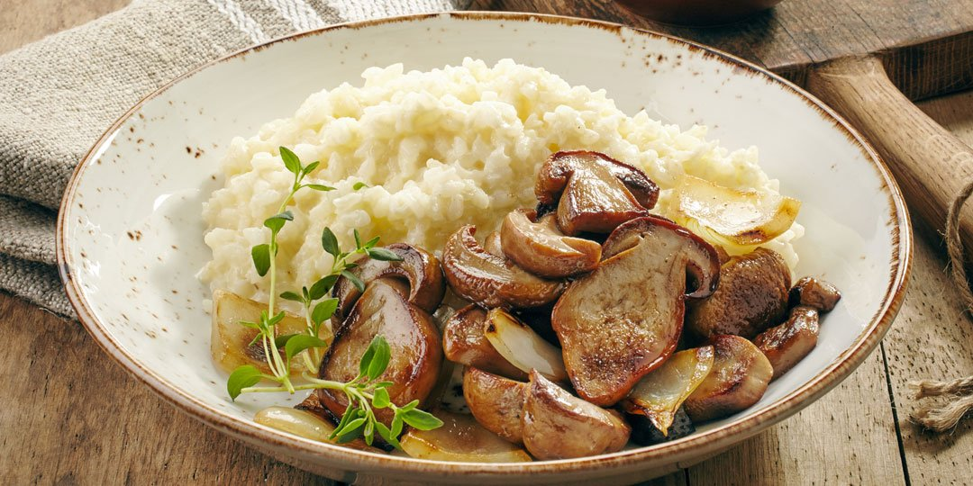 Ριζότο με μανιτάρια, θυμάρι και παρμεζάνα - Images