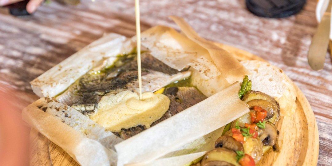 Λαβράκι φιλέτο Blue Island με αρωματική σάλτσα - Images