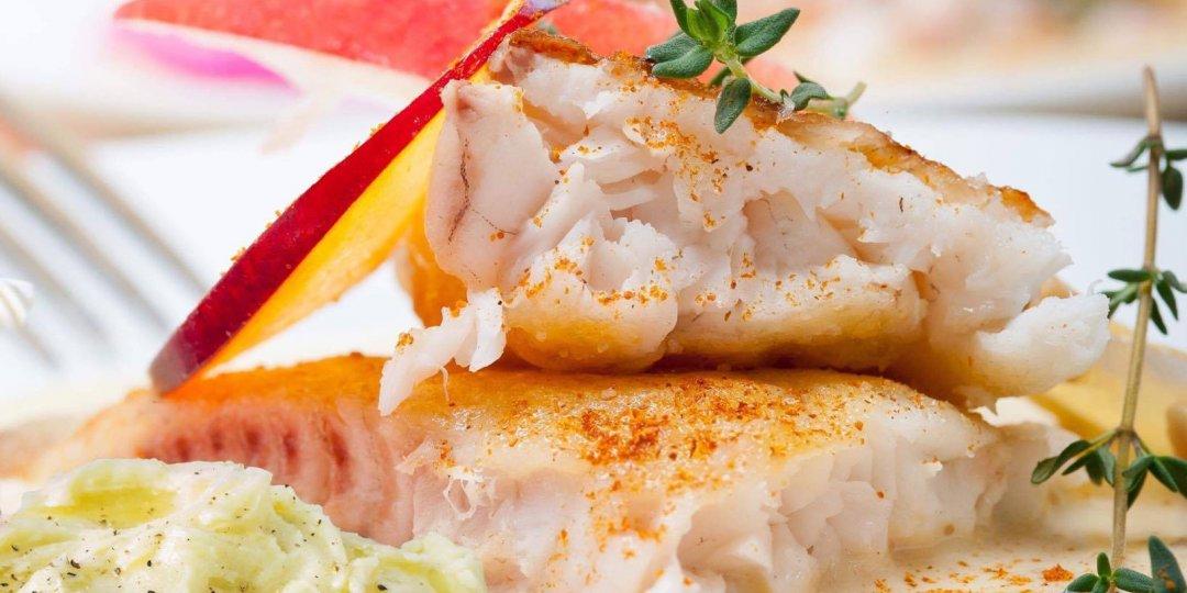 Φιλέτο τσιπούρας Blue Island στο φούρνο με πουρέ γλυκοπατάτας - Images