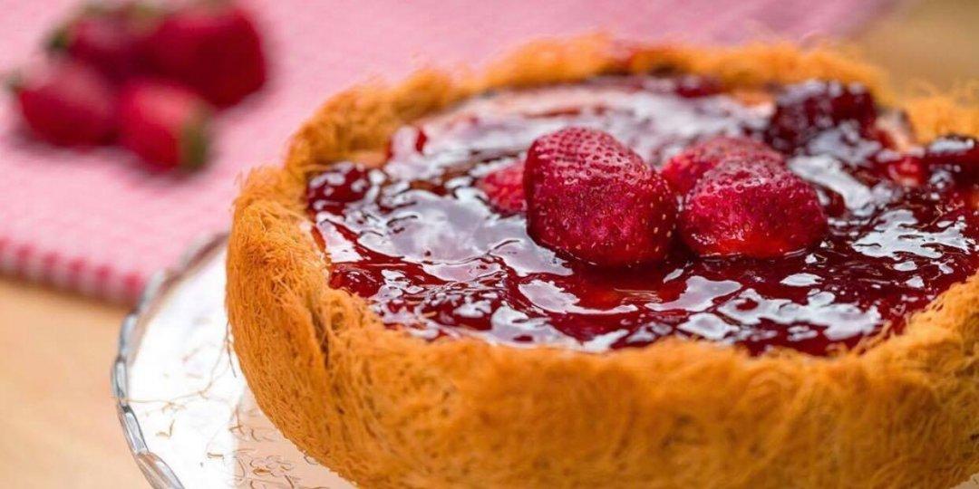Λαχταριστό cheesecake με κανταΐφι - Images