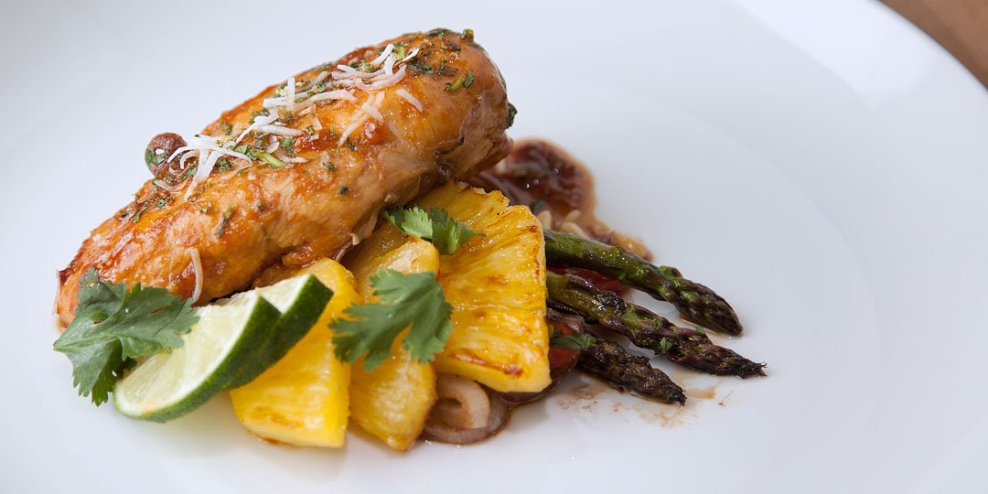 Τηγανητό κοτόπουλο με ανανά - Images