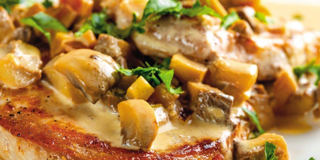Χοιρινό φιλέτο μενταγιόν με προσούτο, σαφράν και κρόκο Κοζάνης - Images