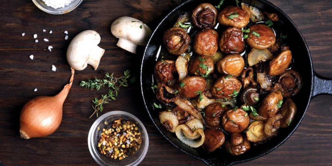Νόστιμος μεζές με μανιτάρια, φέτα και Κρόκο Κοζάνης  - Images