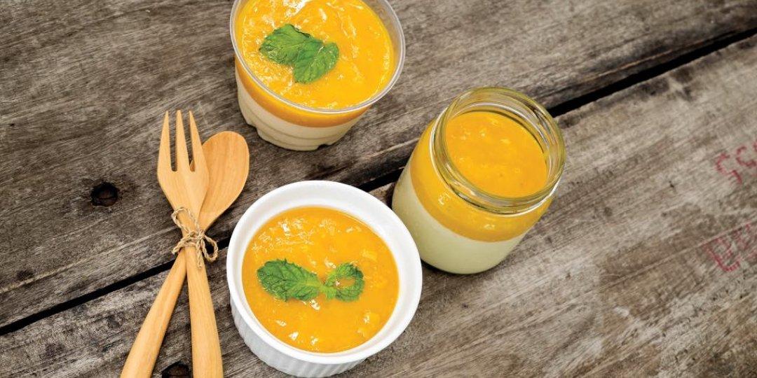 Πανακότα με πορτοκάλι και κρόκο Κοζάνης - Images