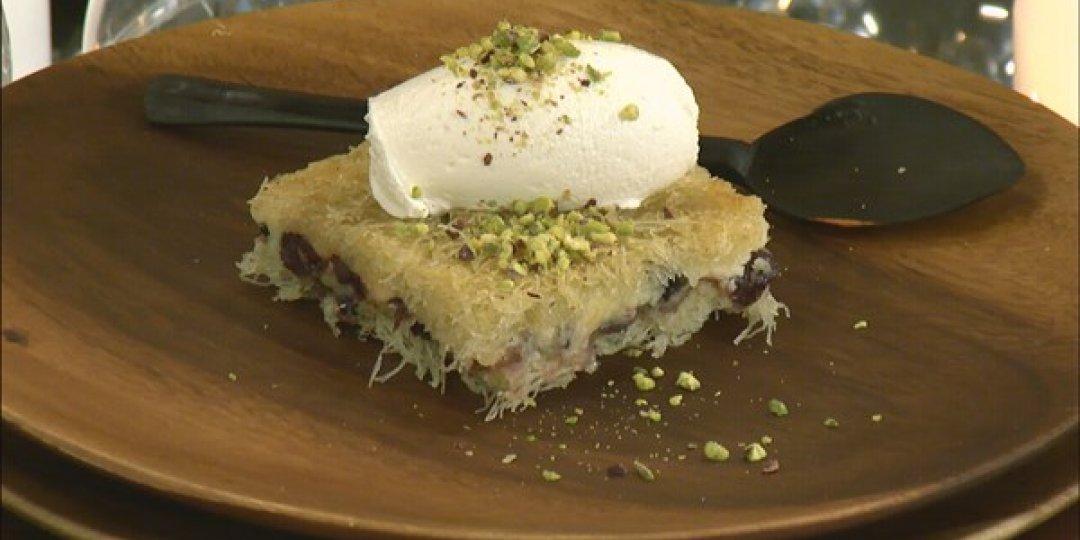 Cheesecake με φύλλο κανταΐφι - Images