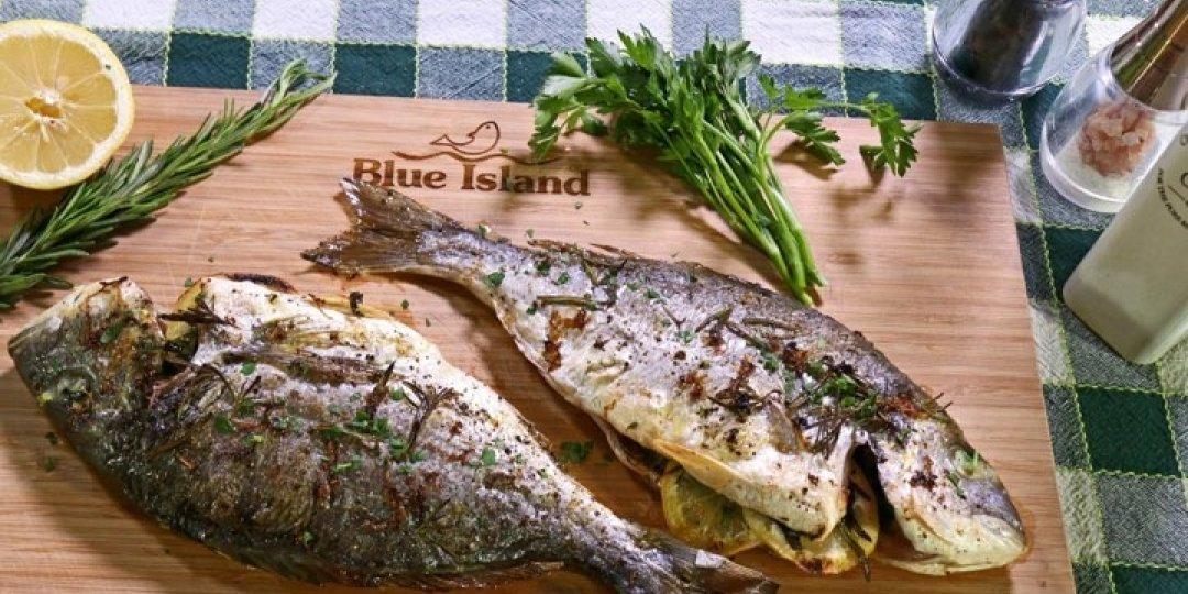 Ψητή Τσιπούρα Blue Island με λεμόνι, μαϊντανό και δεντρολίβανο - Images