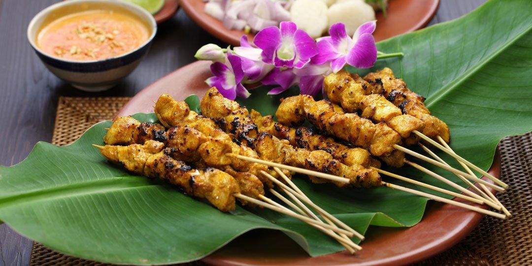 Κοτόπουλο Satay με φυστικοβούτυρο - Images