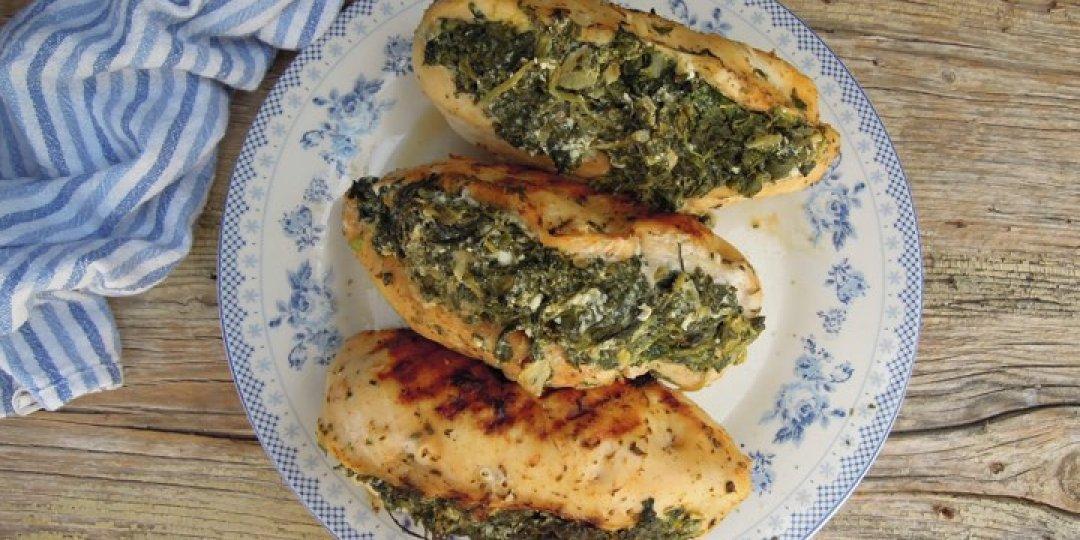 Γεμιστό κοτόπουλο με σπανάκι και φέτα - Images