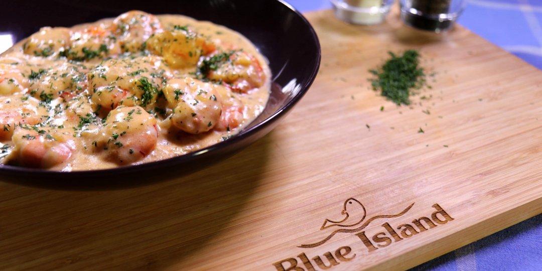 Γαρίδες Blue Island με σάλτσα ούζου  - Images