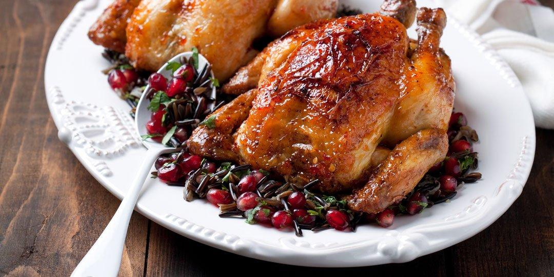 Ψητό κοτόπουλο με σάλτσα ροδιού - Images