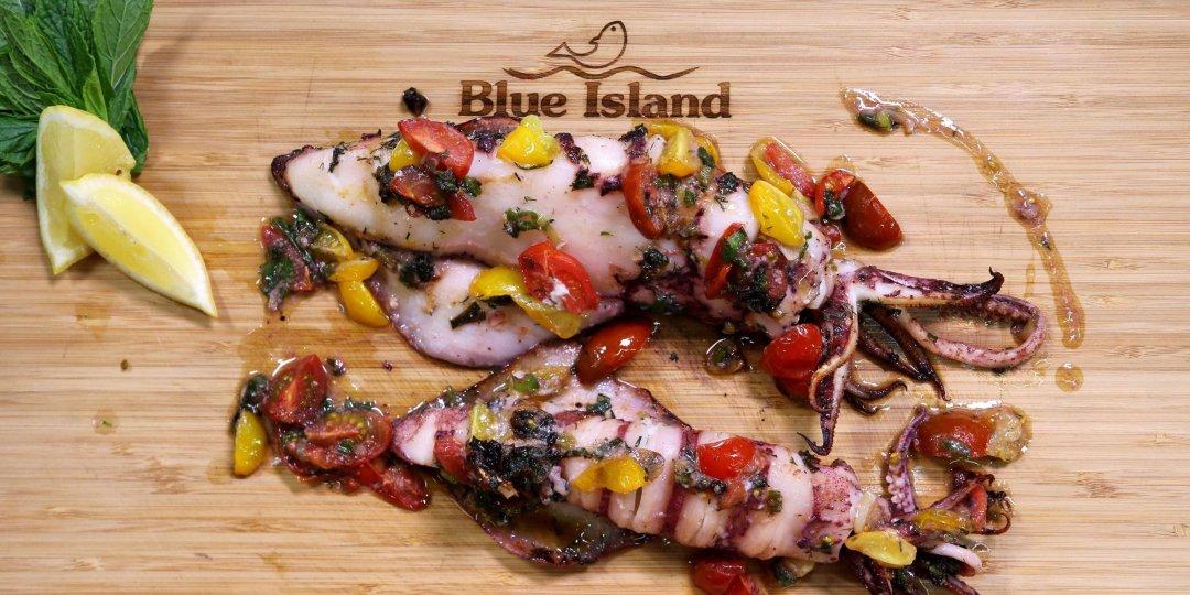 Καλαμάρια Blue Island ψητά στο φούρνο με αρωματικά - Images