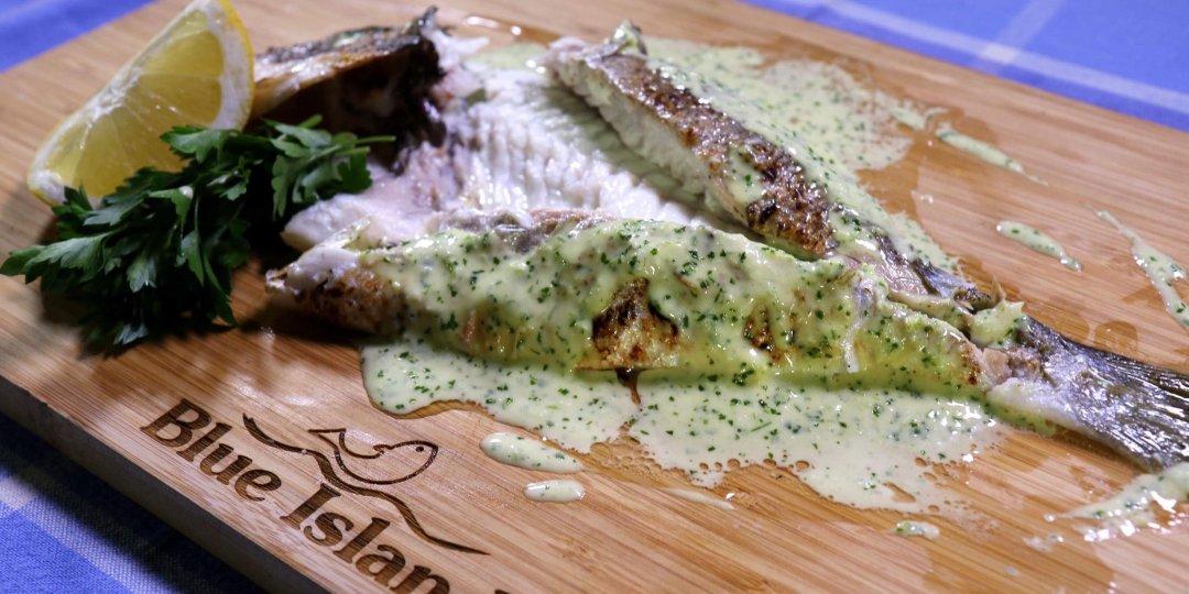 Τσιπούρα Blue Island ψητή με σάλτσα μαϊντανού και βουτύρου - Images