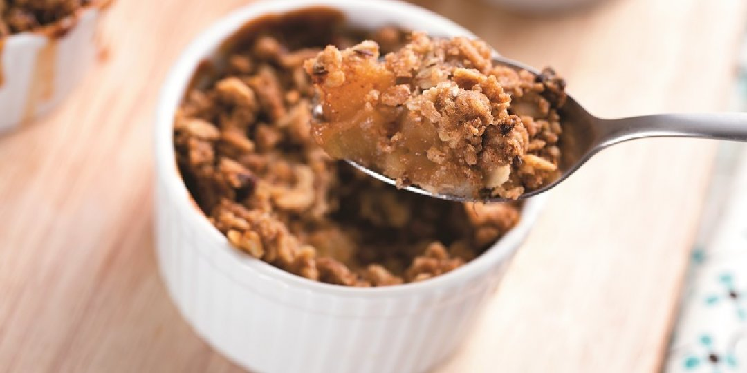Γιορτινό κράμπλ (crumble) me σοκολάτα και ανανά Del Monte Gold - Images