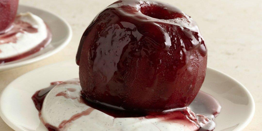 Μήλα φουρνιστά με κρασί  - Images