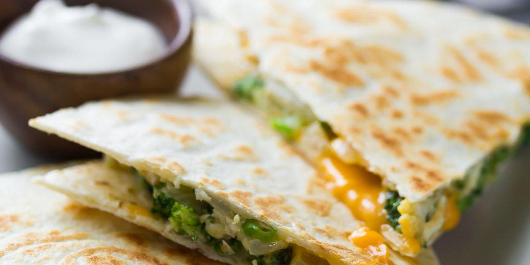 Quesadillas με μπρόκολο  - Images