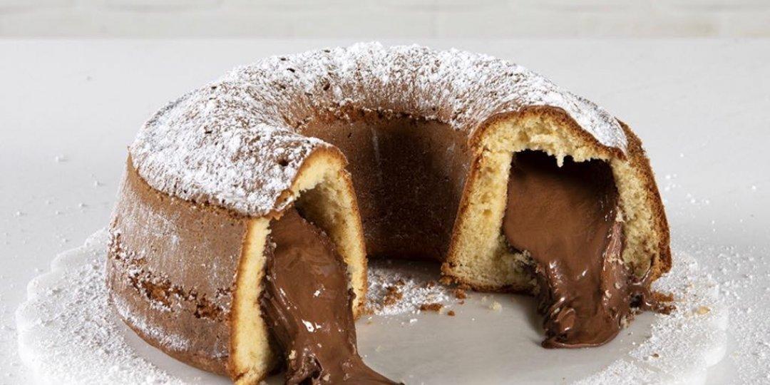 Κέικ βανίλιας γεμιστό με πραλίνα φουντουκιού - Images