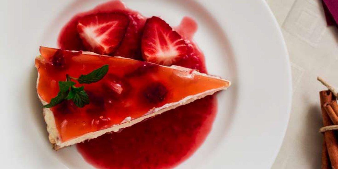 Κρύο cheesecake με μαρμελάδα φραούλας Stute χωρίς πρόσθετη ζάχαρη - Images