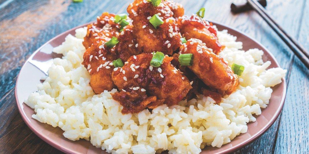 Κοτόπουλο με THAI BBQ SAUCE  exotic food  - Images