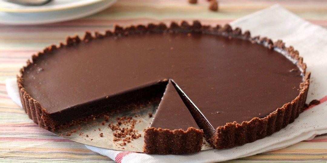 Νηστίσιμη τάρτα σοκολάτας  - Images
