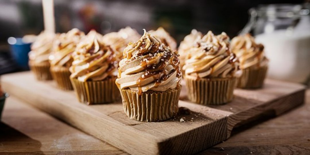 Cupcakes με βουτυρόκρεμα espresso & πραλίνα πεκάν - Images