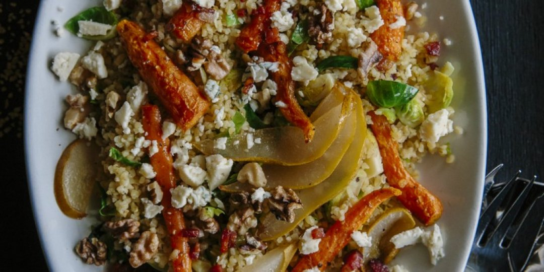 Σαλάτα με λαχανάκια Βρυξελλών και πουργούρι Μιτσίδη - Images