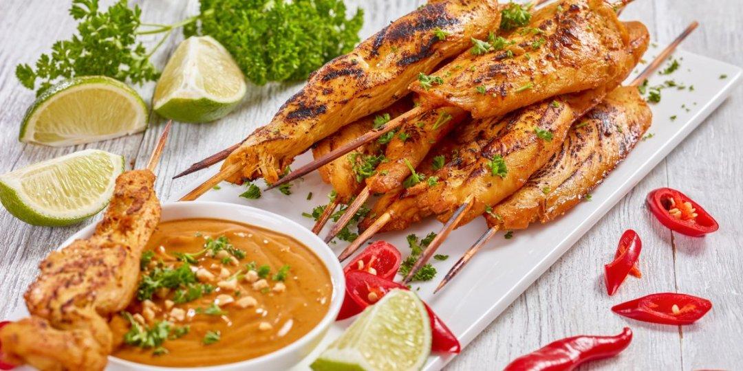 Κοτόπουλο satay - Images