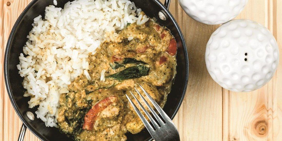 Green Curry Paste Exotic Food με κοτόπουλο και ρύζι - Images