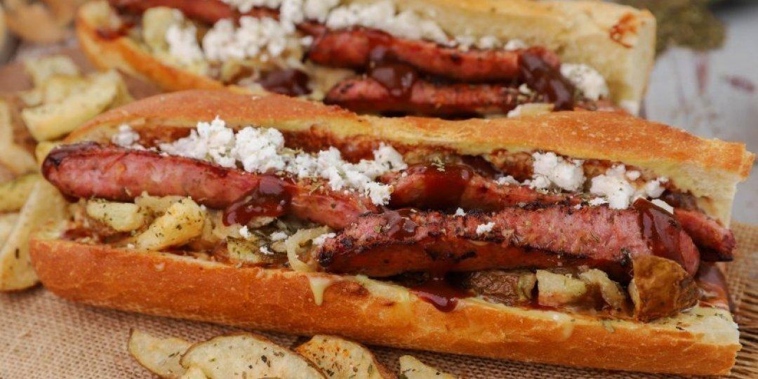 Greek village hot dog - Images