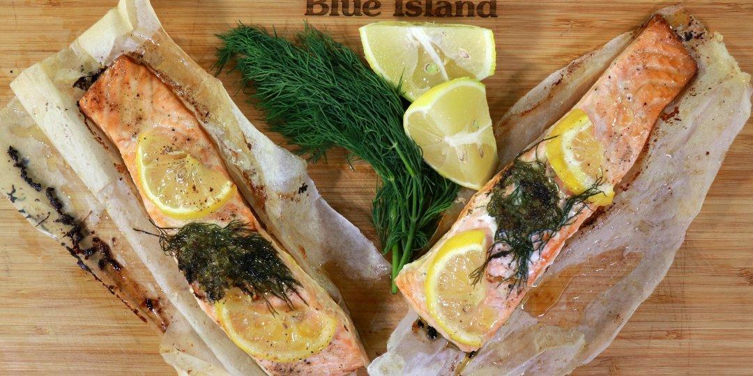 Σολομός Blue Island με αρωματικό βούτυρο - Images