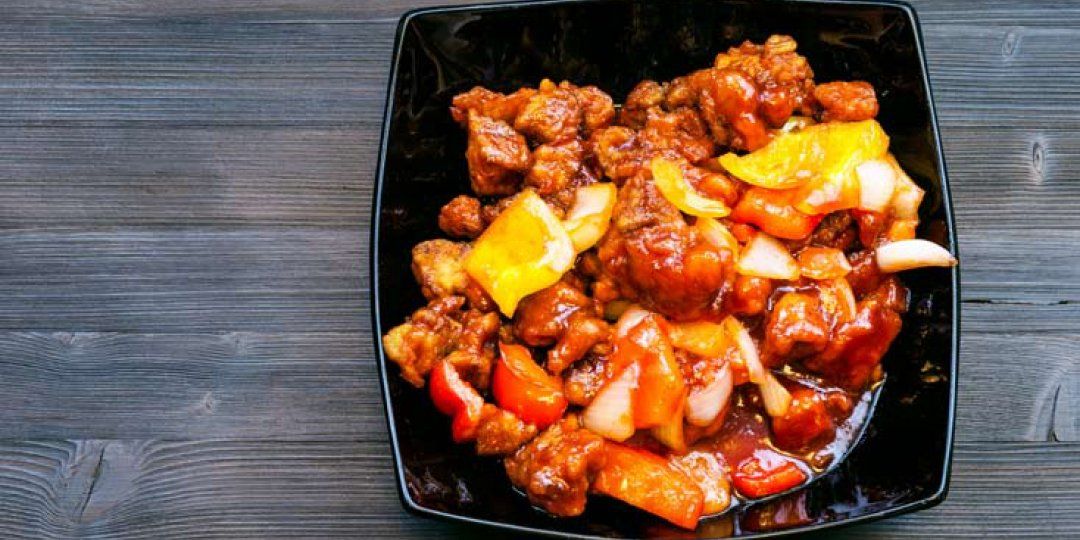 Φέτες χοιρινού με πιπεριές και σάλτσα σόγιας Exotic Food - Images