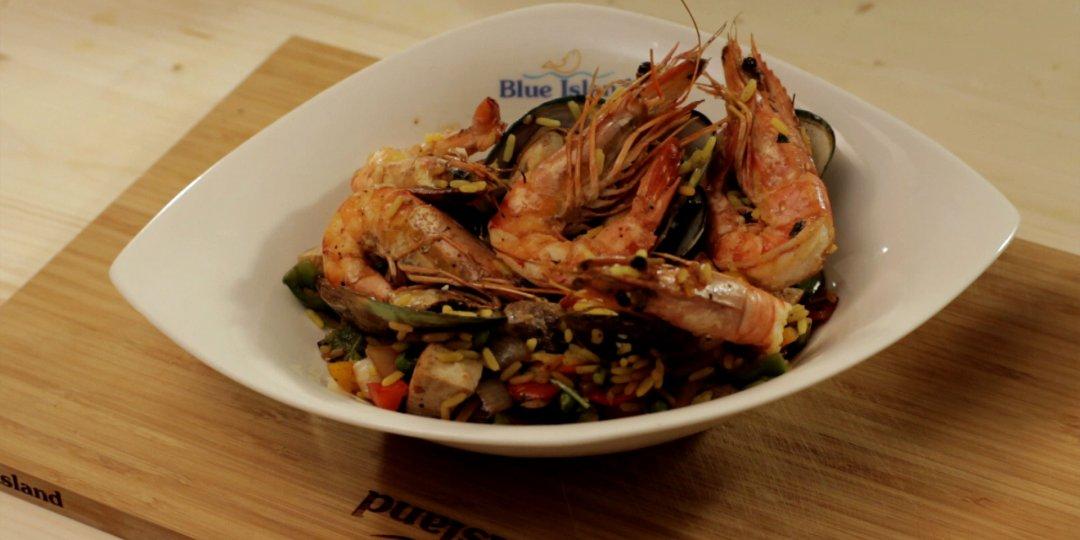 Ισπανική Paella με θαλασσινά Blue Island - Images