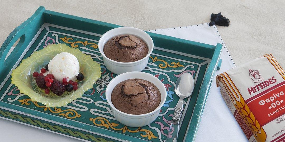 Σουφλέ σοκολάτας με Φαρίνα ΜΙΤΣΙΔΗ  - Images