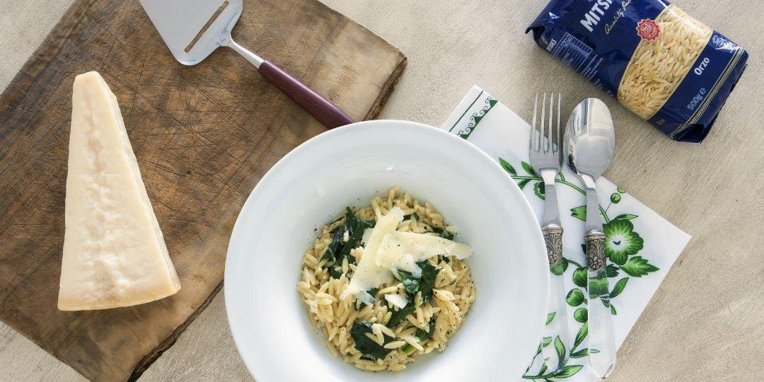 Κριθαρότο με σπανάκι και κρέμα - Images