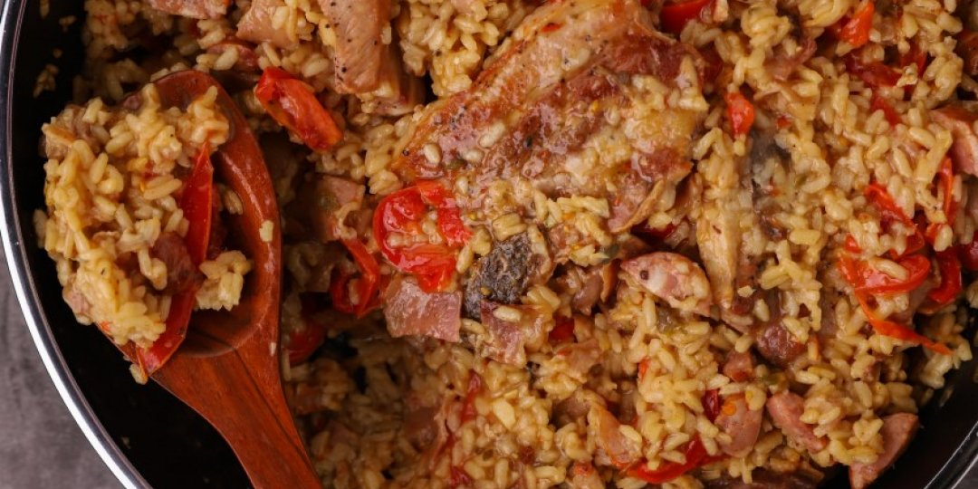 Ψητό ρύζι με χοιρινή πανσέτα - Images
