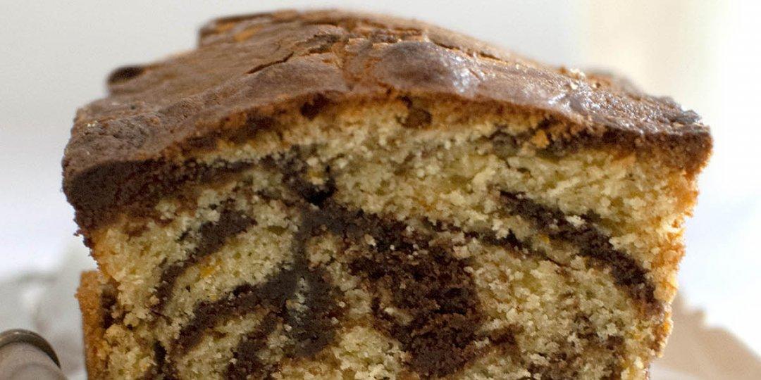 Marble cake με γλάσο σοκολάτας - Images