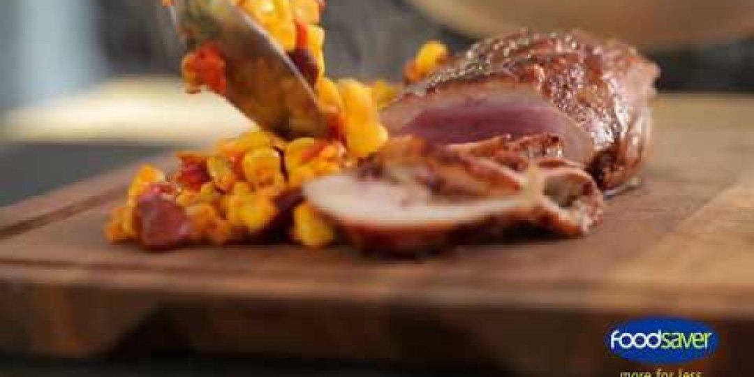 Φιλέτο πάπιας με roasted corn Mexicana  - Images