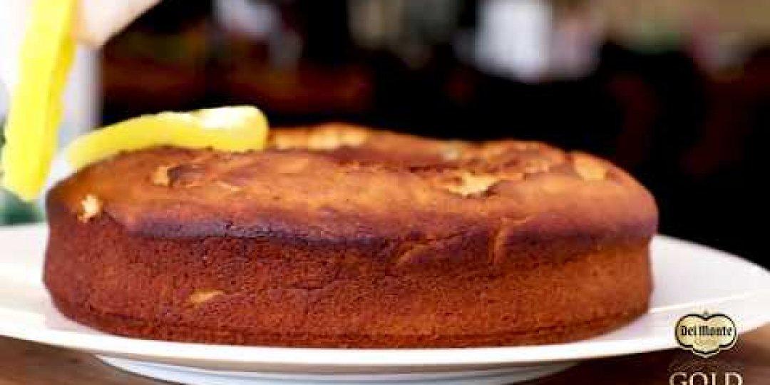 Κέικ με κομπόστα ανανά DEL MONTE και νιφάδες σοκολάτας - Κεντρική Εικόνα