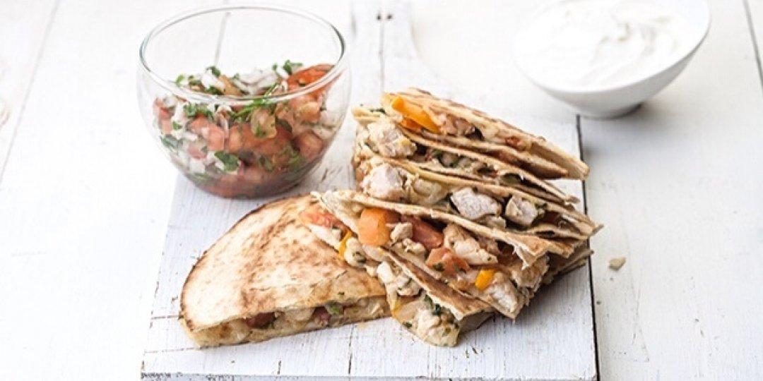 Μεξικάνικη τορτίγια με κοτόπουλο Foodsaver (Quesadillas) - Images