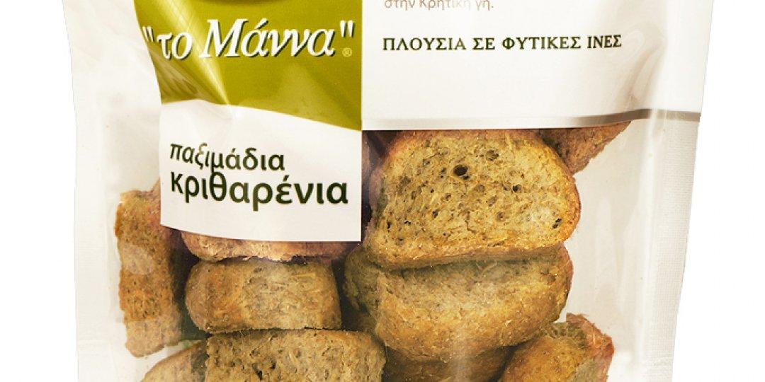 Τα κυρίαρχα στην ελληνική αγορά κρητικά παξιμάδια 'το Μάννα' Ν. Τσατσαρωνάκης τώρα και στην Κύπρο  - Κεντρική Εικόνα