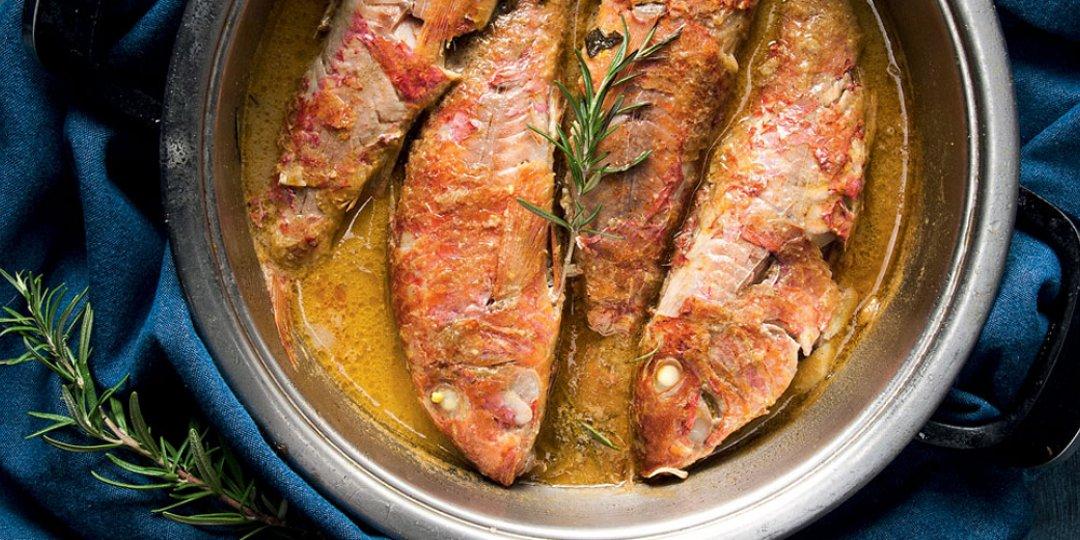 Mπαρμπούνια με σάλτσα δενδρολίβανο - Images