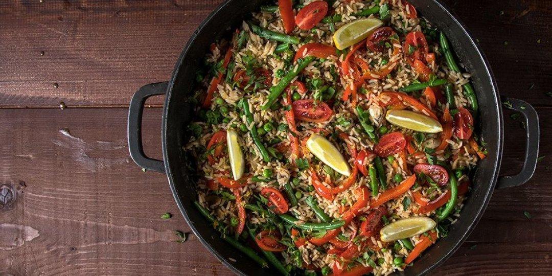 Παέγια λαχανικών με μανιτάρια - Images