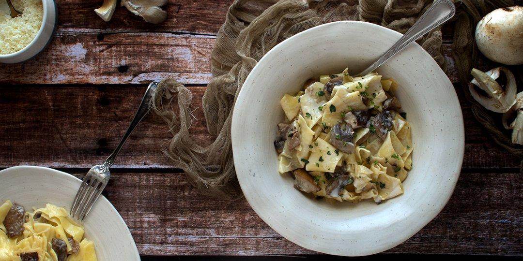 Παπαρδέλες με μανιτάρια και κρέμα καρύδας - Images