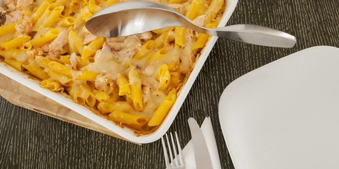 Πέννες Agnesi χωρίς γλουτένη με σολομό, τυρί Valio και κρέμα Arla  - Images