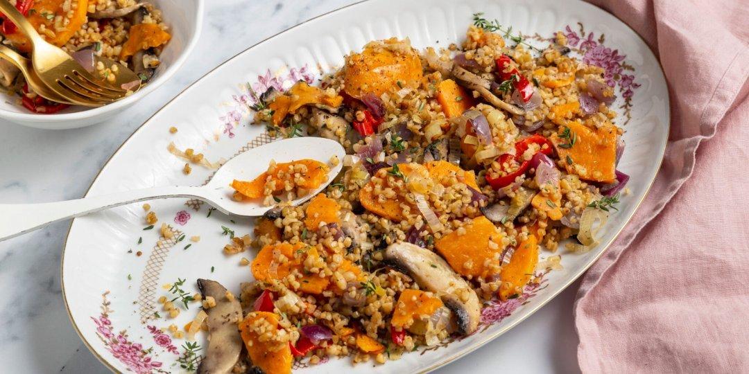 Μελωμένο πλιγούρι με χειμωνιάτικα λαχανικά στον φούρνο - Images
