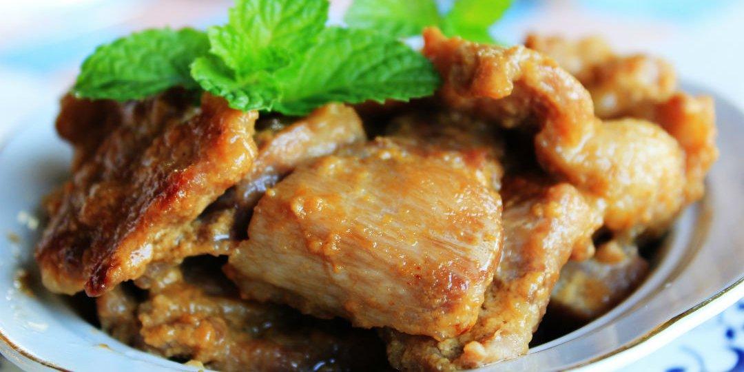 Χοιρινό με μουστάρδα, μπύρα και μέλι  - Images