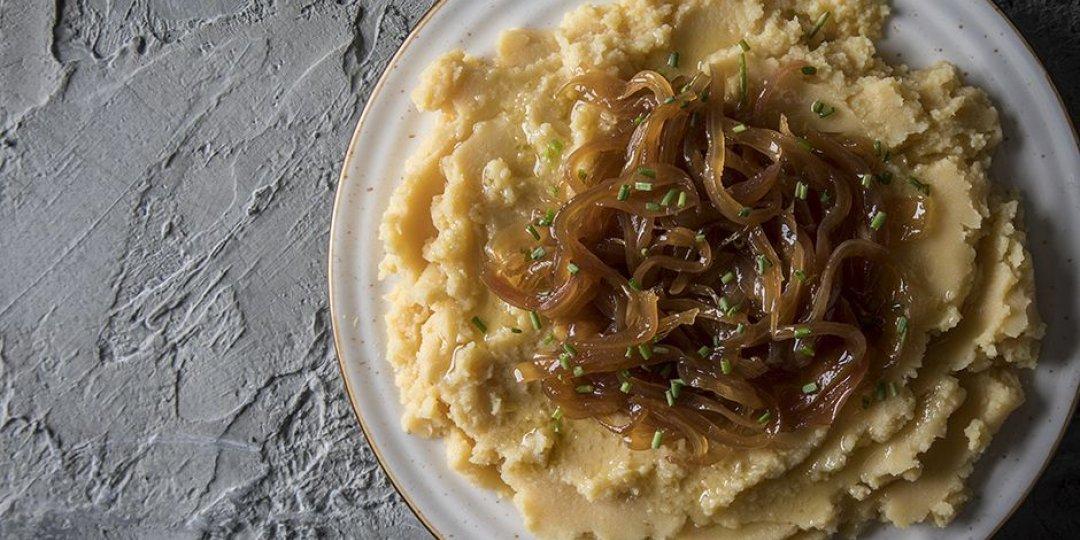 Φάβα με καραμελωμένα κρεμμύδια - Images